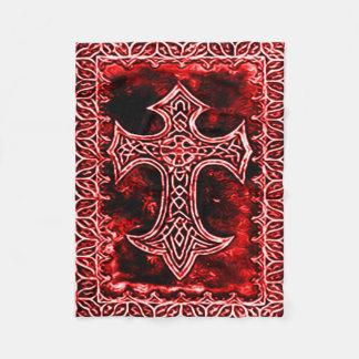 ゴシック様式血の十字の記号 フリースブランケット
