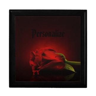 ゴシック様式血の赤いバラの名前入りな宝石箱 ギフトボックス