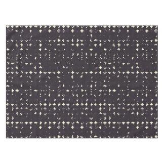 ゴシック様式衰退した黒くグランジなヴィンテージの十字パターン テーブルクロス