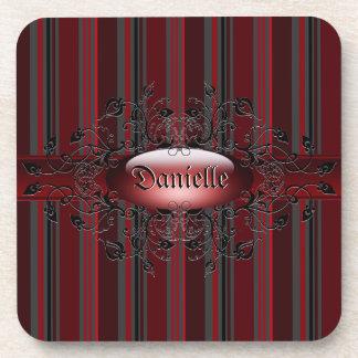 ゴシック様式赤いコルクのコースターで縞で飾ります コースター