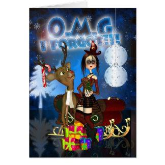 ゴシック様式遅れてクリスマスカードトナカイH.I.P. Ra グリーティングカード
