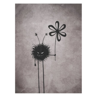 ゴシック様式邪悪な花の虫のヴィンテージ テーブルクロス