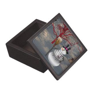 ゴシック様式雪だるまの記念品箱 ギフトボックス