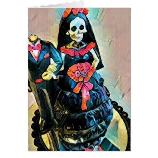 ゴシック様式骨組死体の結婚式の招待状 カード