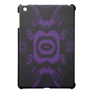 ゴシック様式黒いおよび紫色の花柄Pern. iPad Miniカバー