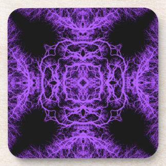 ゴシック様式黒いおよび紫色の設計 コースター