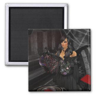 ゴシック様式黒いハートの磁石 マグネット