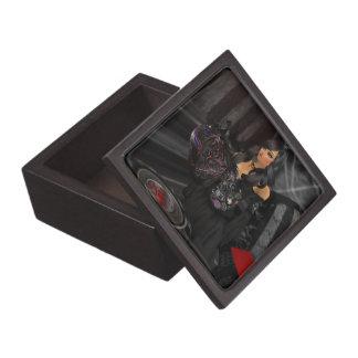 ゴシック様式黒いハートの記念品箱 ギフトボックス