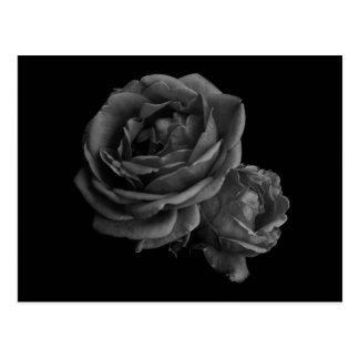 ゴシック様式黒いバラ ポストカード