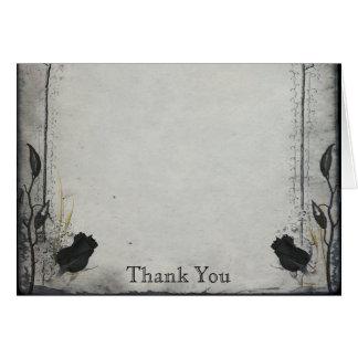 ゴシック様式黒のバラの格子垣記念日は感謝していしています カード