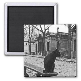 ゴシック様式黒猫の墓地の磁石 マグネット