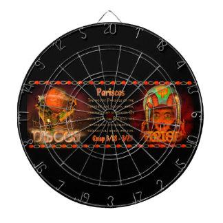 ゴシック様式(占星術の)十二宮図の魚類の牡羊座の先端 ダーツボード