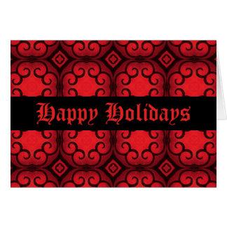 ゴシック様式aristrocratのビクトリアンなdecoの幸せな休日 カード