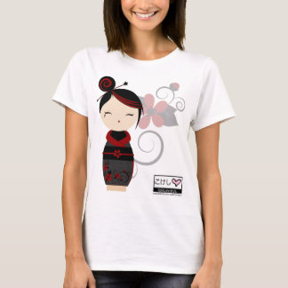 ゴシック様式Kokeshiの細い肩ひもの上 Tシャツ
