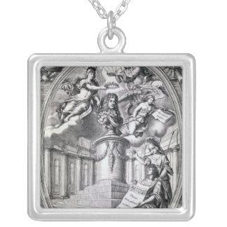 ゴットフリード指1688年へのDedicatory版木、銅版、版画 シルバープレートネックレス