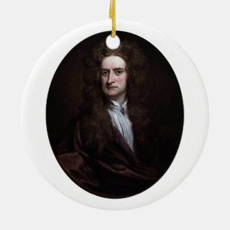 ゴッドフリーKneller 1702年著アイザックニュートン セラミックオーナメント