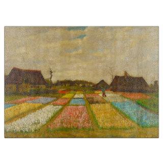 ゴッホのまな板によるオランダの花壇 カッティングボード