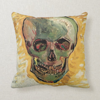 ゴッホのスカル、ヴィンテージの静物画の印象主義 クッション