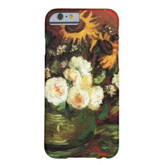 ゴッホのヒマワリおよびバラ BARELY THERE iPhone 6 ケース