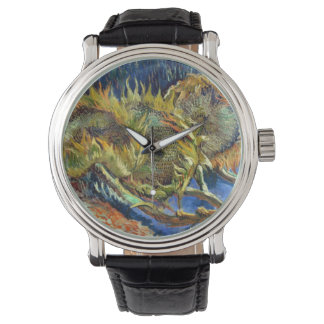 ゴッホのヒマワリ 腕時計