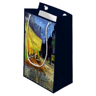 ゴッホのファインアートによる夜のCafé台地 スモールペーパーバッグ