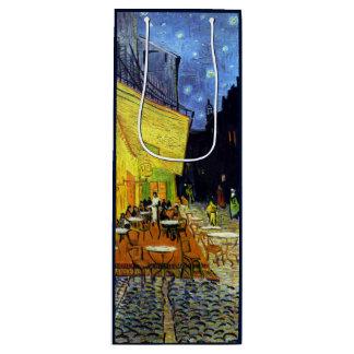 ゴッホのファインアートによる夜のCafé台地 ワインギフトバッグ