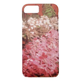 ゴッホのライラック、ヴィンテージのピンクの花のファインアート iPhone 8/7ケース