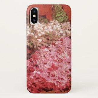 ゴッホのライラック、ヴィンテージのピンクの花のファインアート iPhone X ケース