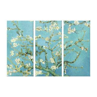 ゴッホの三重のパネルのキャンバスによるアーモンドの花 キャンバスプリント
