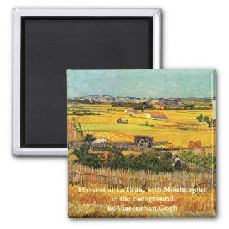 ゴッホの収穫のLa Crau、Montmajourのファインアート 磁石
