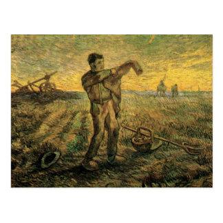 ゴッホの夕べ: 日の終わり、ヴィンテージの芸術 ポストカード