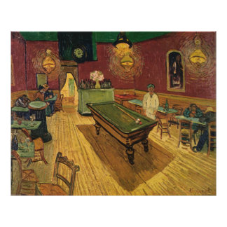 ゴッホの夜Café (Le Cafe? deのnuit) 1888年 ポスター