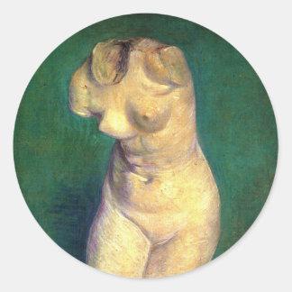 ゴッホの女性の胴のプラスター小像 ラウンドシール