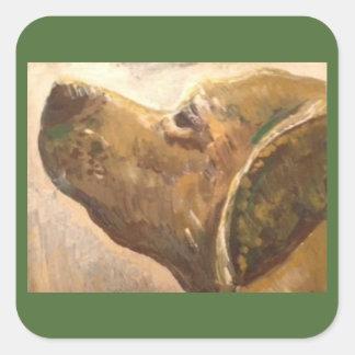 ゴッホの実験室犬の絵画 スクエアシール