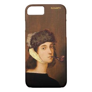 ゴッホの帽子および管とのRaphaelの自画像 iPhone 8/7ケース