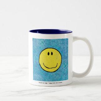 ゴッホの幸せな顔 ツートーンマグカップ