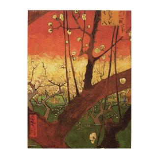 ゴッホの日本のな花盛りのスモモの木、ファインアート ウッドウォールアート