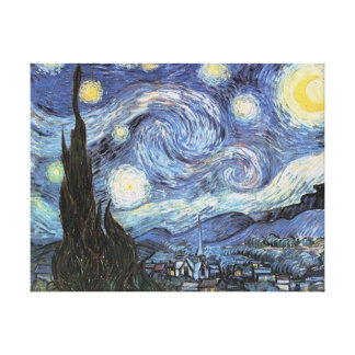ゴッホの星明かりの夜キャンバスプリントのヴィンテージの芸術 キャンバスプリント