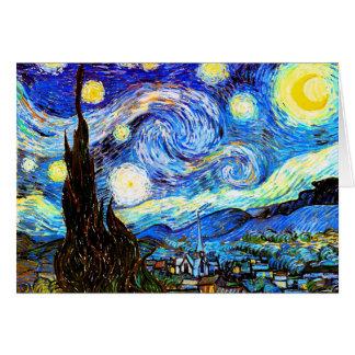 ゴッホの星明かりの夜ファインアート カード