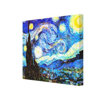 ゴッホの星明かりの夜ファインアート キャンバスプリント