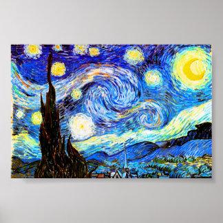 ゴッホの星明かりの夜ファインアート ポスター