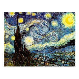 ゴッホの星明かりの夜ファインアート ポストカード