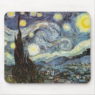 ゴッホの星明かりの夜ファインアート マウスパッド