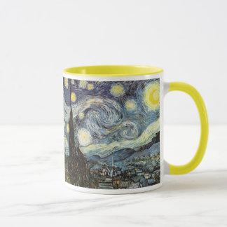 ゴッホの星明かりの夜ファインアート マグカップ