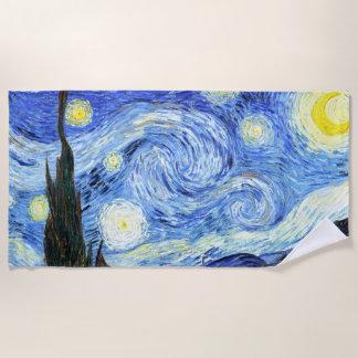 ゴッホの星明かりの夜印象主義のビーチタオル ビーチタオル