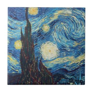 ゴッホの星明かりの夜印象派の絵画 タイル