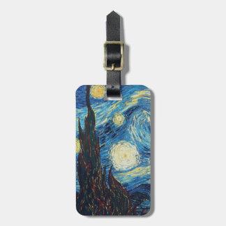 ゴッホの星明かりの夜印象派の絵画 ラゲッジタグ