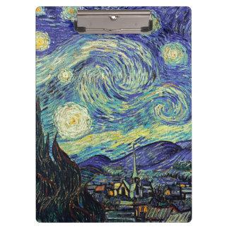 ゴッホの星明かりの夜 クリップボード