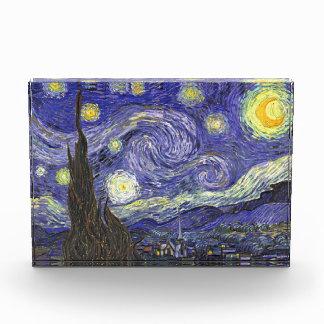 ゴッホの星明かりの夜、ヴィンテージのファインアートの景色 表彰盾