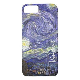 ゴッホの星明かりの夜、ヴィンテージのファインアートの景色 iPhone 8/7ケース